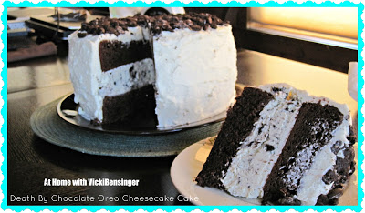 Death by Chocolate Oreo Cheesecake Cake - At Home with ...