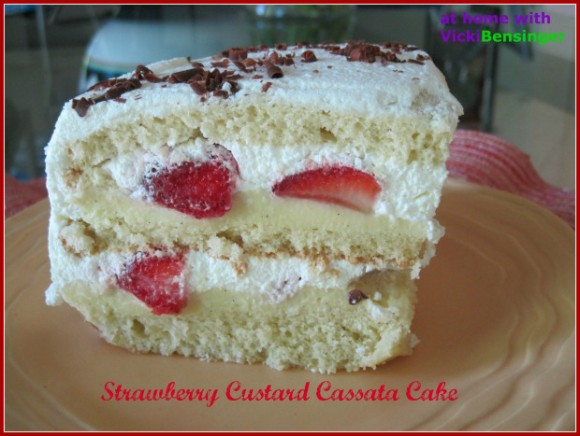 Strawberry Custard Cassata Cake 2 (620)