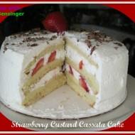 Strawberry Custard Cassata Cake 620