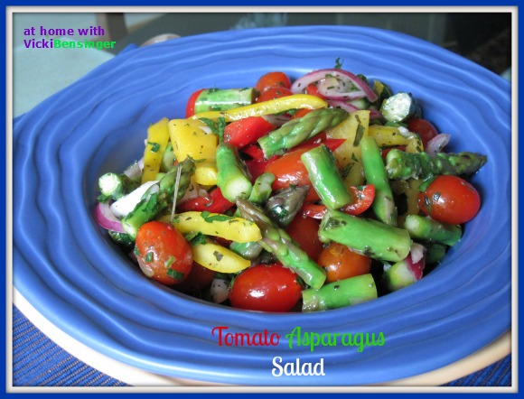 At Home with Vicki Bensinger » Tomato Asparagus Salad