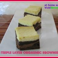 Triple Layer Orgasmic Brownies