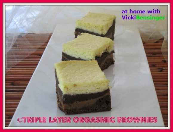 Triple Layer Orgasmic Brownies