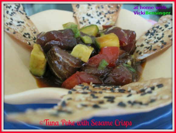 Tuna Poke with Sesame Crisps 580