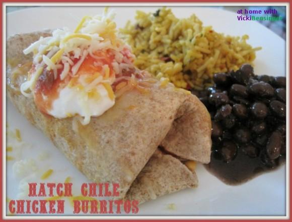 Hatch Chile Chicken Burritos