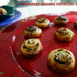 Cranberry Orange Pistachio Pinwheels