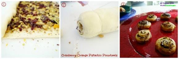 CranOrange Pistachio Pinwheels