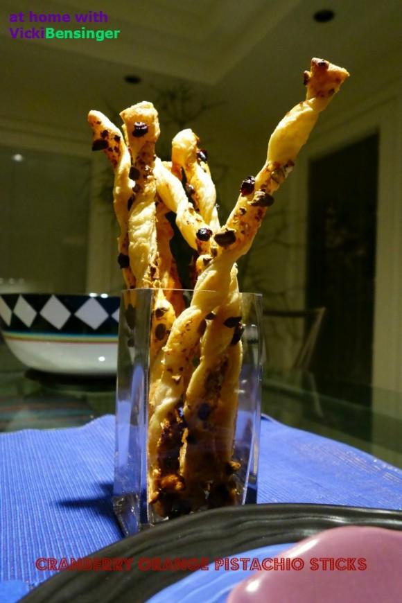 Cranberry Orange Pistachio Sticks