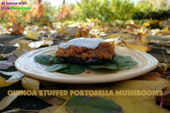 Quinoa Stuffed Portobella Mushrooms 1