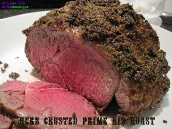 Herb Crusted Prime Rib Roast – Video – At Home with Vicki ...