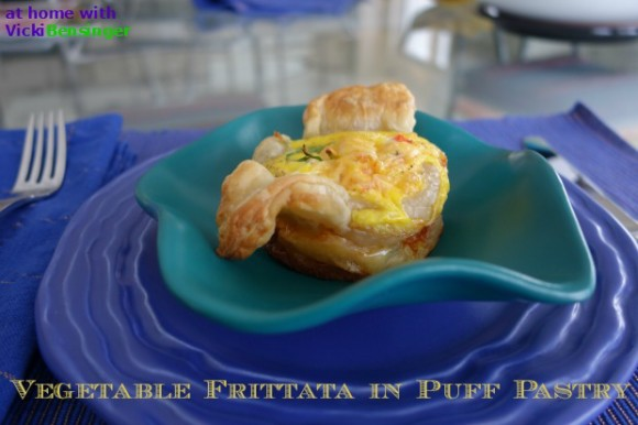 Vegetable Frittata in Puff Pastry