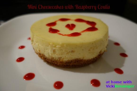 Mini Cheesecakes with Raspberry Coulis