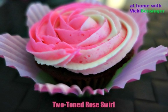 two toned rose swirl