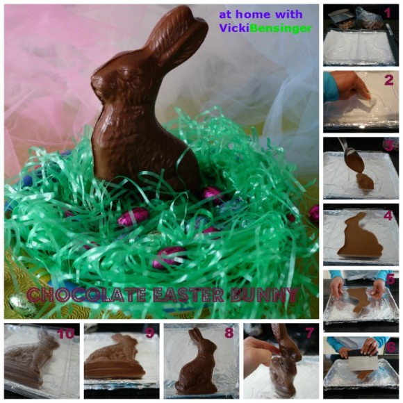 Chocolate Easter Bunny Collage