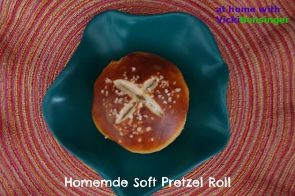 Homemade Soft Pretzel Roll