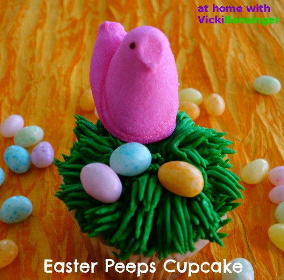 Easter Peeps Cupcakes - At Home with Vicki Bensinger