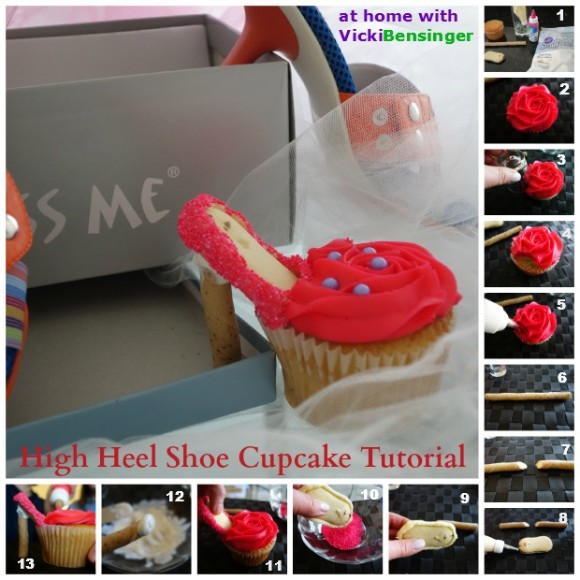 High Heel Shoe Cupcake Tutorial