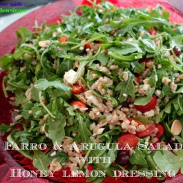 Farro and Arugula Salad with Honey Lemon Dressing