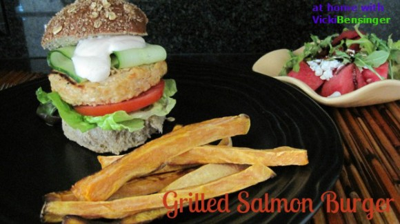 Grilled Salmon Burger