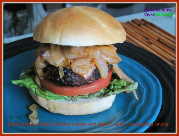 Kobe Beef Burger with Caramelized Onions