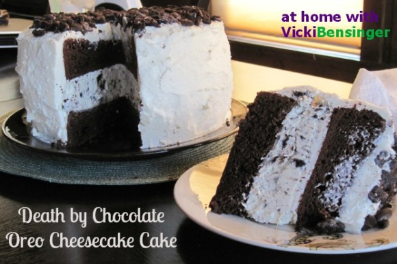 Death by Chocolate Oreo Cheesecake Cake