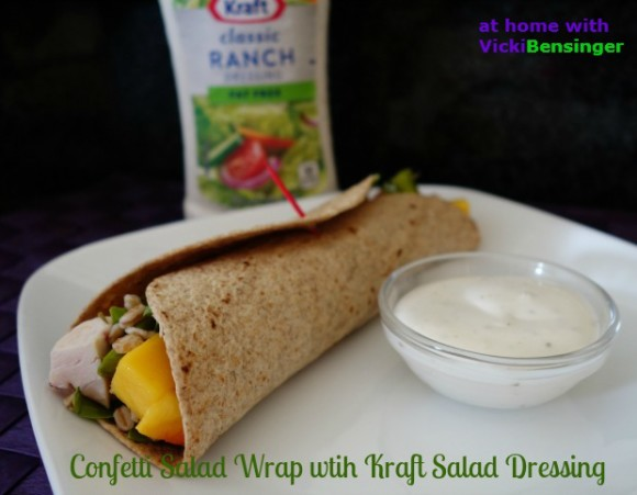 Confetti Salad Wrap with Kraft Dressing