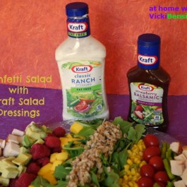 Confetti Salad with Kraft Salad Dressings