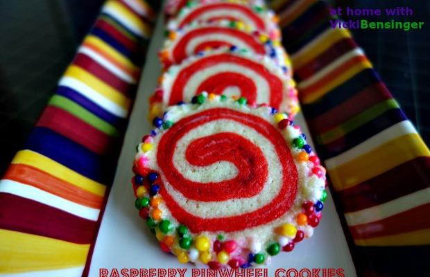Raspberry Pinwheel Cookies