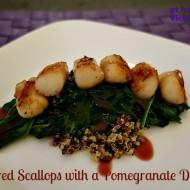 Seared Scallops with a Pomegranate Drizzle