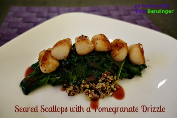 Seared Scallops with a Pomegranate Drizzle