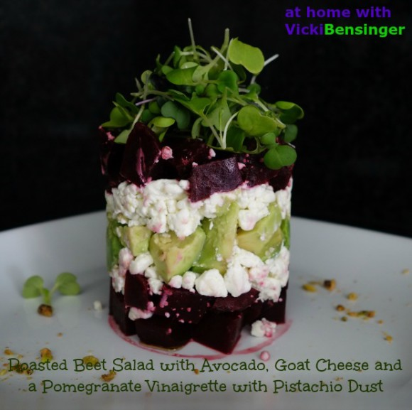 Towering Roasted Beet Salad