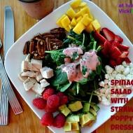 Spinach Salad wStrawberry Poppy Seed