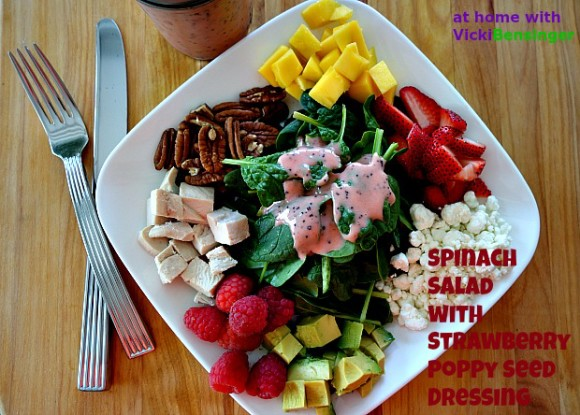 Spinach Salad wStrawberry Poppy Seed Dressing