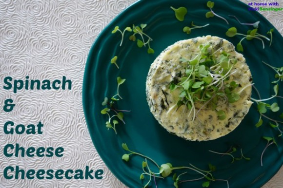 Goat Cheese Cheesecake spinach & goat cheese cheesecake + giveaway! - at home with vicki