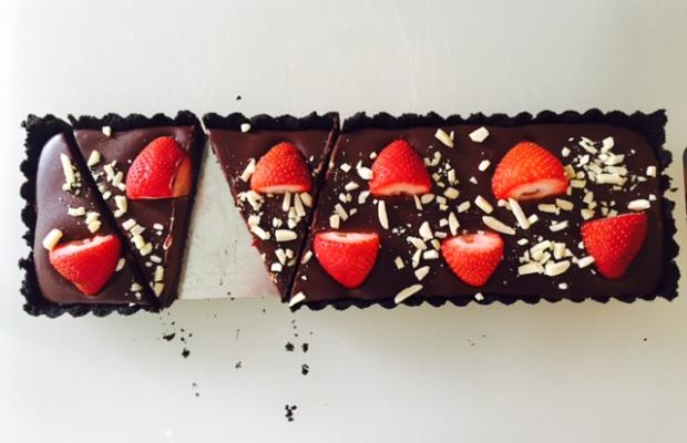 No-Bake Strawberry Chocolate Tart