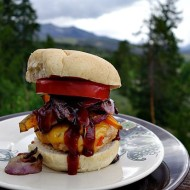 Mountainous Grilled Chicken Burger