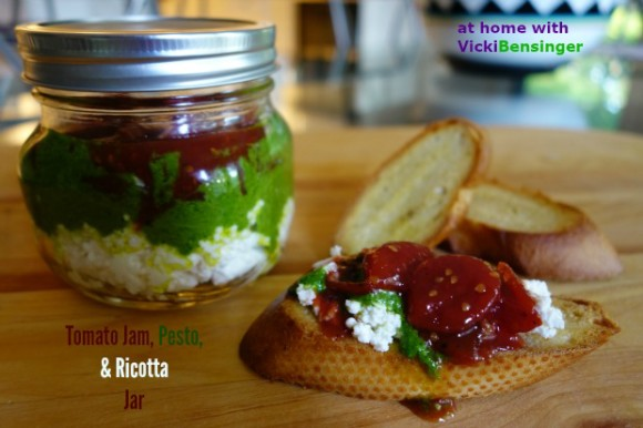 Tomato Jam, Pesto, & Ricotta Jar 1
