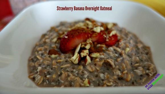 Strawberry Banana Overnight Oatmeal 2a