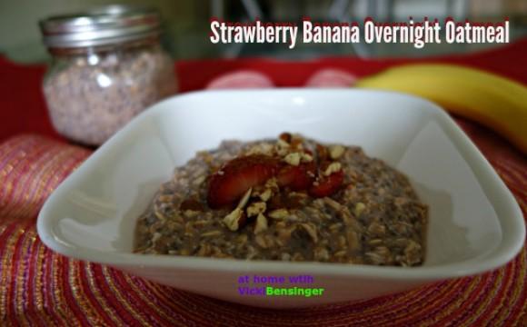 Strawberry Banana Overnight Oatmeal 4