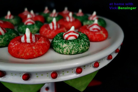 Holiday Shortbread with Peppermint Kisses