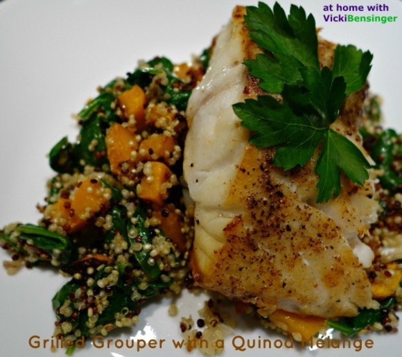 Grilled Grouper with Quinoa 1a