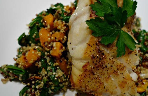 Grilled Grouper with a Quinoa Mélange