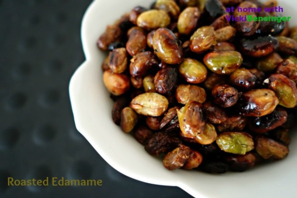 Roasted Edamame - the healthy snack! - At Home with Vicki ...