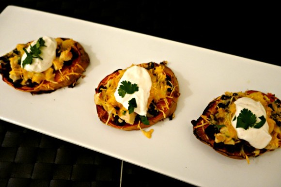 Skinny Loaded Sweet Potato Bites 1a