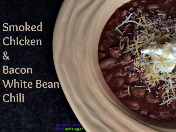 Smoked Chicken and Bacon White Bean Chili
