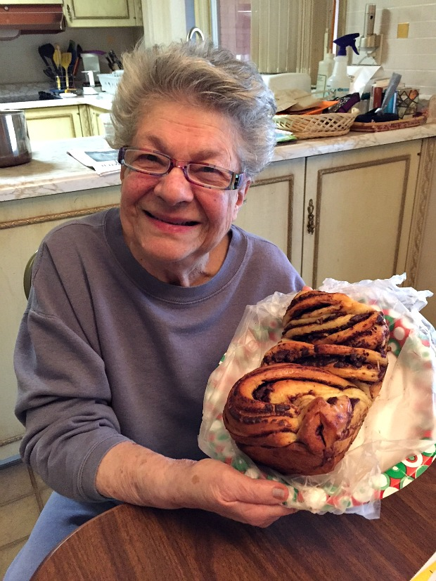 Mom with my Chocolate Babka