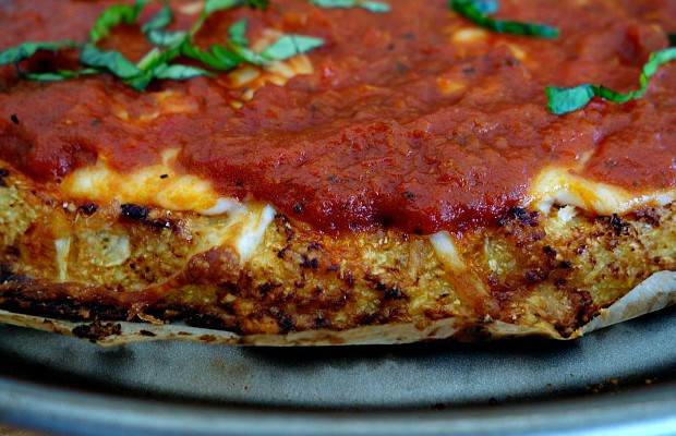Gluten-Free Homemade Pizza with Cauliflower Crust