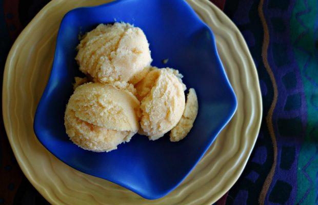 Cantaloupe Coconut Lime Sorbet