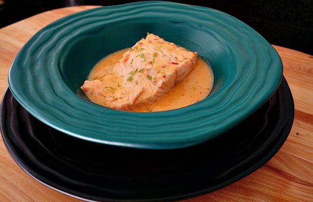 Salmon Poached in Coconut Milk 4