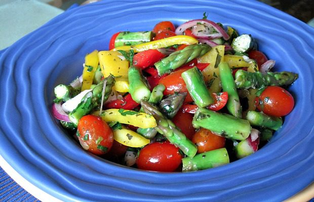 Tomato Asparagus Salad 1