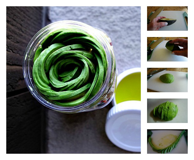 Avocado Rose Collage